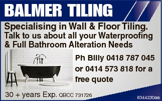 Specialising in Wall & Floor Tiling. Talk to us about all your Waterproofing & Full Bathr...