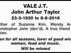 VALE J.T. John Arthur Taylor