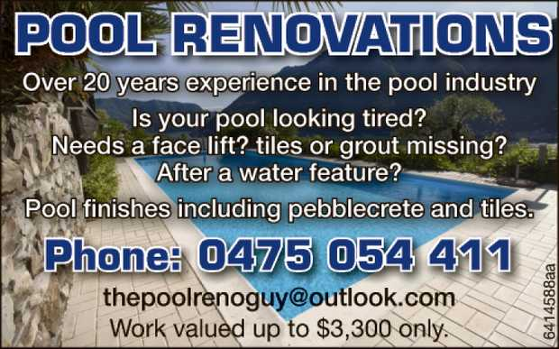 Over 20 years experience in the pool industry