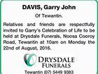 DAVIS, Garry John
