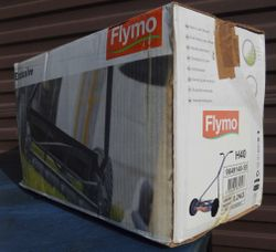 Flymo - Used once. Wife did not like it. Repacked in original box and now for sale at near half pric...
