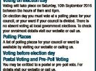 RICHMOND VALLEY COUNCIL ELECTIONS SATURDAY, 10TH SEPTEMBER 2016 Election of Mayor Election of 6 Councillors You need to be enrolled to vote for the council where you live To check your enrolment details visit our website or call us. If you are not on the roll in NSW or your ...