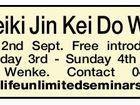 Noosa Reiki Jin Kei Do Workshop