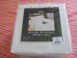 cream sheet set double flannel
