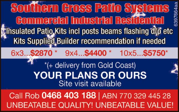 Commercial  Industrial  Residential  Kits Supplied   INSULATED incl posts...