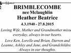 BRIMBLECOMBE nee Mclaughlin Heather Beatrice