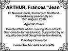 "ARTHUR, Frances ""Jean"""