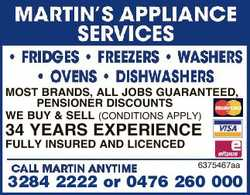 MOST BRANDS, ALL JOBS GUARANTEED, PENSIONER DISCOUNTS WE BUY & SELL (CONDITIONS APPLY) 34 YEARS...