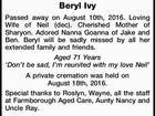 SMITH Beryl Ivy