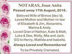 NOTARAS, Joan Anita