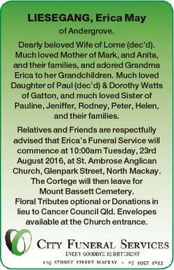 LIESEGANG, Erica May of Andergrove. Dearly beloved Wife of Lorne (dec'd). Much loved Mother of M...