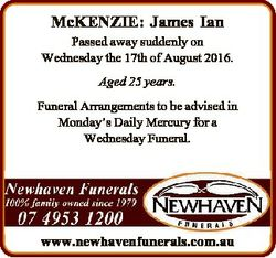 McKENZIE: James Ian Passed away suddenly on Wednesday the 17th of August 2016. Aged 25 years. Funera...