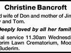 Christine Bancroft