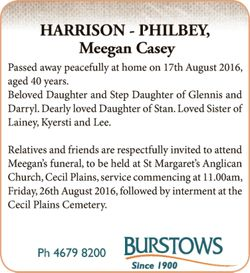 Passed away peacefully at home on 17th August 2016, aged 40 years. Beloved Daughter and Step Daug...