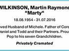 """WILKINSON, Martin Raymond """"Marty"""""""