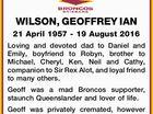 WILSON, GEOFFREY IAN