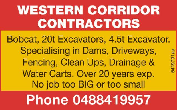 Bobcat, 20t Excavators, 4.5t Excavator.   Specialising in Dams, Driveways,   Fencing, Cle...
