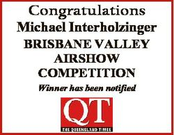 Congratulations Michael Interholzinger BRISBANE VALLEY AIRSHOW COMPETITION Winner has been notified