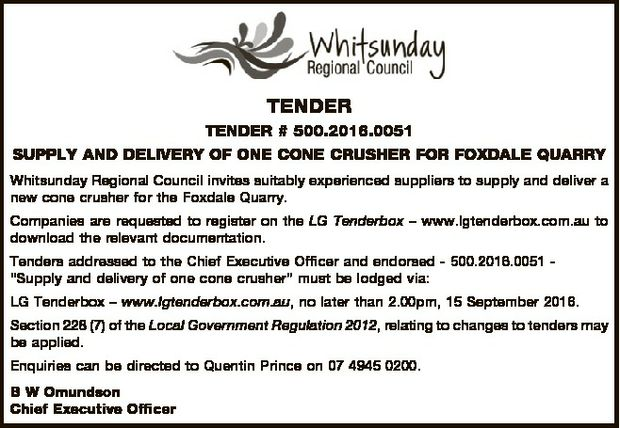 TENDER # 500.2016.0051