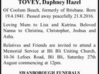 TOVEY, Daphney Hazel
