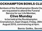 ROCKHAMPTON BOWLS CLUB