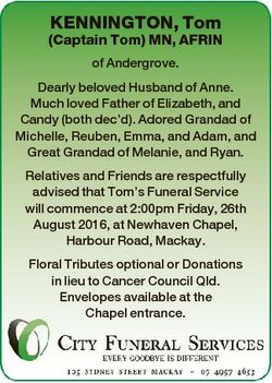 KENNINGTON, Tom (Captain Tom) MN, AFRIN of Andergrove. Dearly beloved Husband of Anne. Much loved Fa...