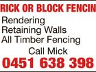 BRICK OR BLOCK FENCING