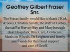 Geoffrey Gilbert Fraser Snr.