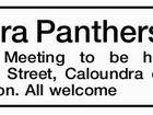 Caloundra Panthers JARFC Annual General Meeting