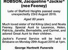 "ROBSON, Jacqueline ""Jackie"" (nee Feeney)"