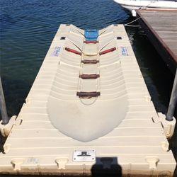 EZ Port Boat Pontoon Floating Dock   Fully operational,  rollers recently...