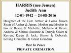 HARRIS (nee Jensen) Judith Ann
