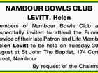 NAMBOUR BOWLS CLUB