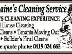 12 YEAR'S CLEANING EXPERIENCE * General House Cleaning * Rental Cleans * Tenants Moving Out * Offices * Builder's Final Cleans For a free quote phone 0419 024 663 4ATP014 Sharmaine's Cleaning Service