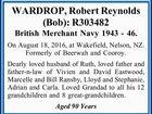 WARDROP, Robert Reynolds (Bob):