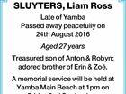 SLUYTERS, Liam Ross
