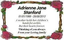 Adrienne Jane Stanford 01/01/1966 - 28/08/2013 A mother holds her children's hands for awhile, B...