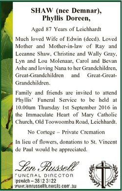 SHAW (nee Demnar), Phyllis Doreen, Aged 87 Years of Leichhardt Much loved Wife of Edwin (decd). Love...