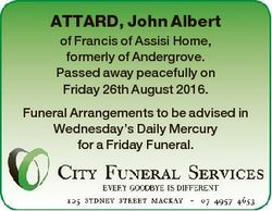 ATTARD, John Albert of Francis of Assisi Home, formerly of Andergrove. Passed away peacefully on Fri...