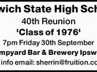 Ipswich State High School 40th Reunion 'Class of 1976'