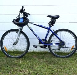 "26"" (66cm) ALAMODE MTN1.0 bicycle –  A regular bicycle in good condition, blue & silver, Shimano gea..."