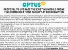 PROPOSAL TO UPGRADE THE EXISTING MOBILE PHONE TELECOMMUNICATIONS FACILITY AT ROCKHAMPTON