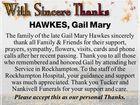 HAWKES, Gail Mary