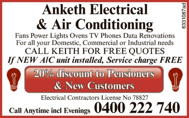 Fans  Power  Lights  Ovens  TV  Phones  Data renovations  ...