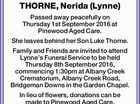 THORNE, Nerida (Lynne)