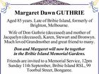 Margaret Dawn GUTHRIE
