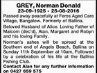 GREY, Norman Donald