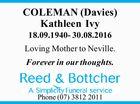 COLEMAN (Davies) Kathleen Ivy
