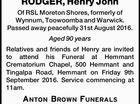 RODGER, Henry John