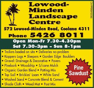Lowood Minden Landscape Centre   572 Lowood-Minden Road, Coolana 4311   Phone 5426...